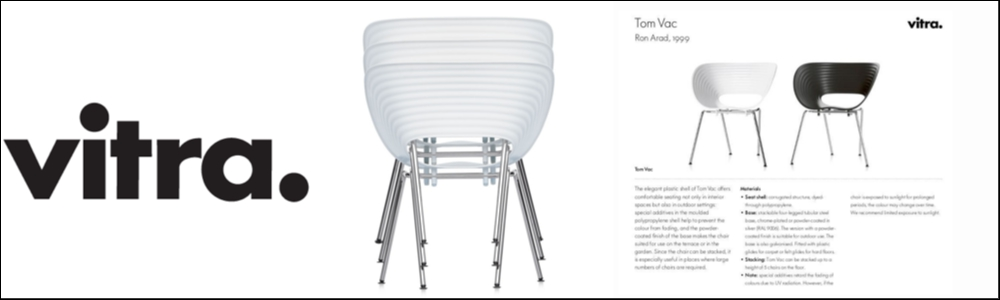Designer chairs VITRA  type TOM VAC by Ron Arad 2e hands partij