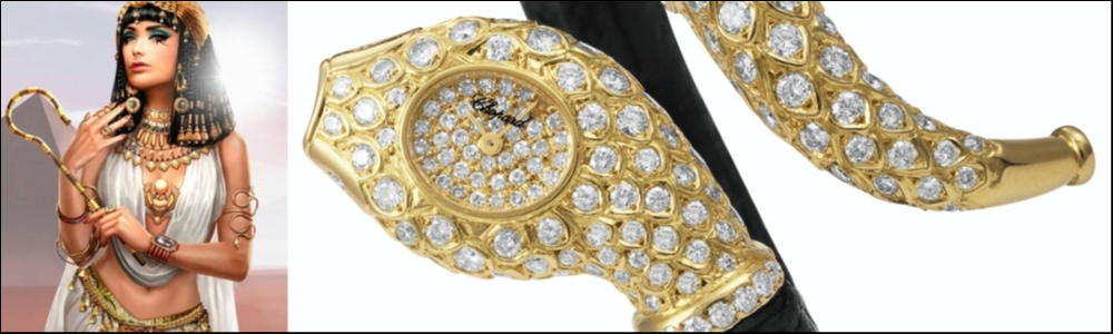 Chopard exclusive diamond bangle wristwatch